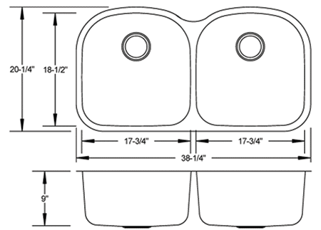 LB-600 - stainless sink measurement