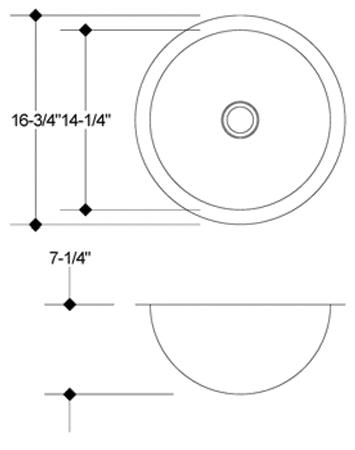 LB-SV-12 - stainless steel sink measurement