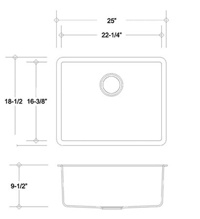 S2518SSP quartz sink measurement