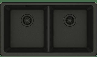 black quartz sink