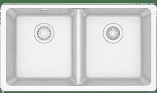 white quartz sink