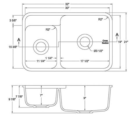 GEM-1930D solid surface sink measurement