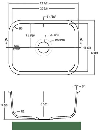 GEM-2015S solid surface sink measurement