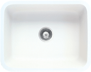 polar white solid surface sink
